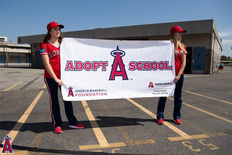 Angels Adopt-A-School with Felix Peña