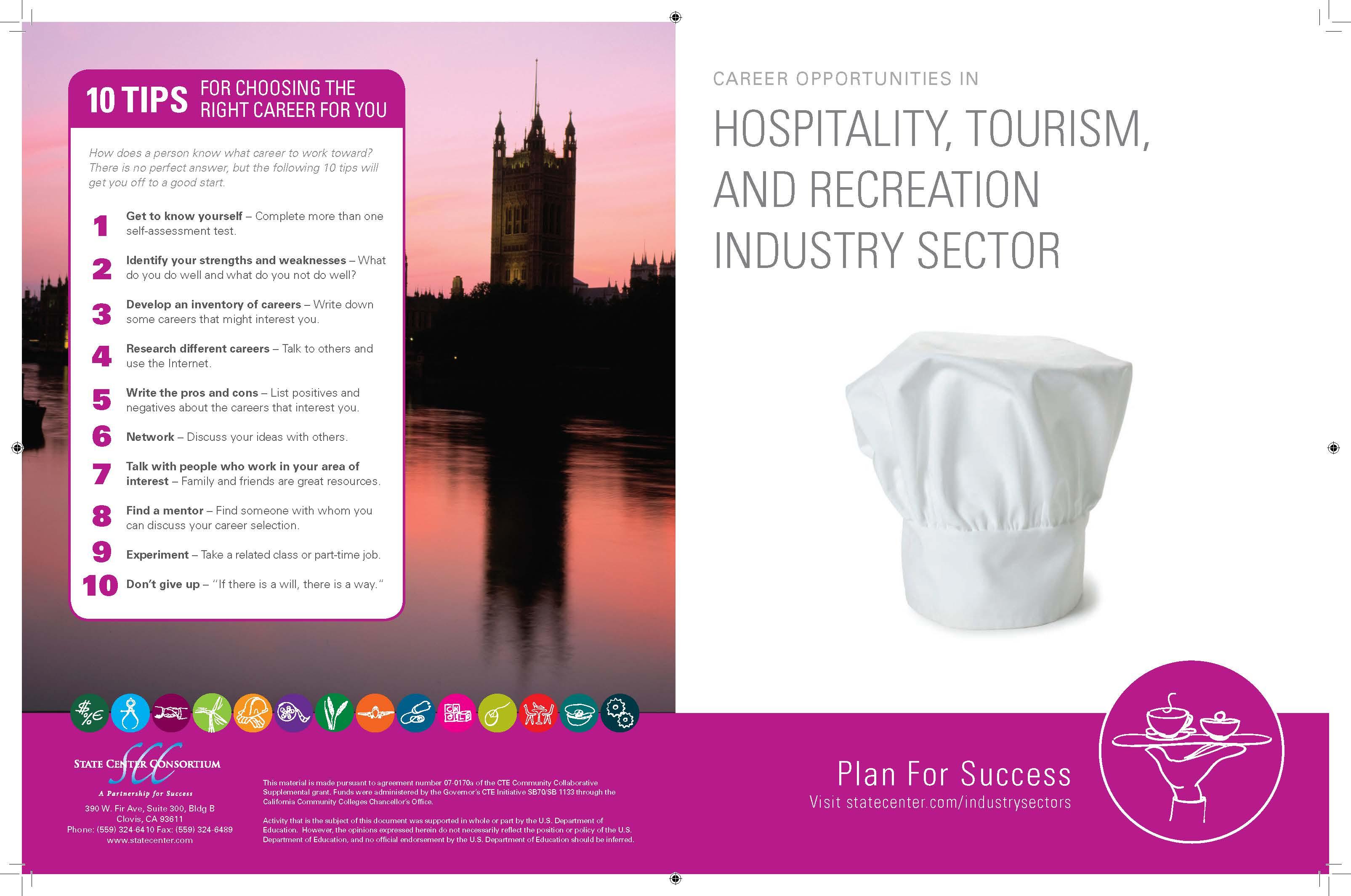 list of hospitality careers