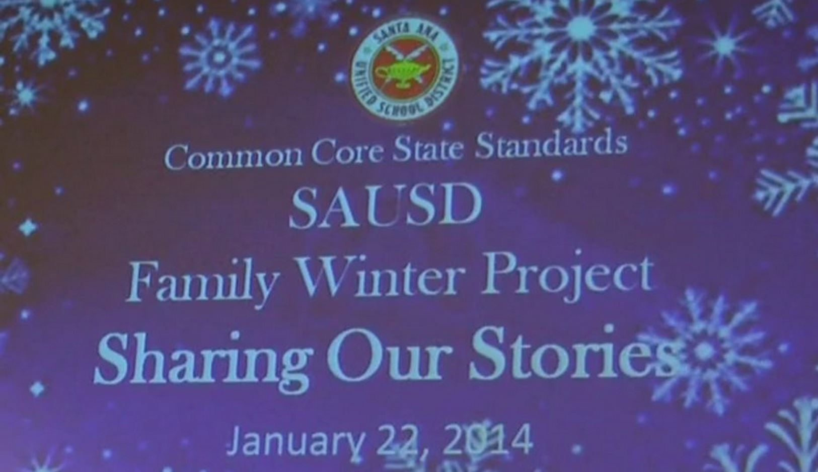 Common Core Winter Family Project Share Event