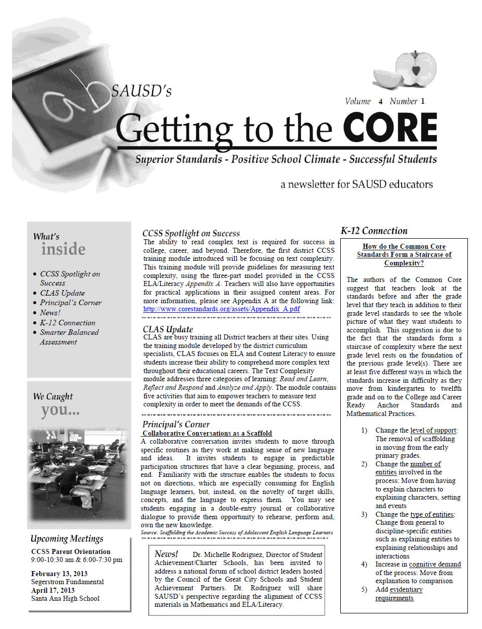 CORE Newsletter, February 7, 2013