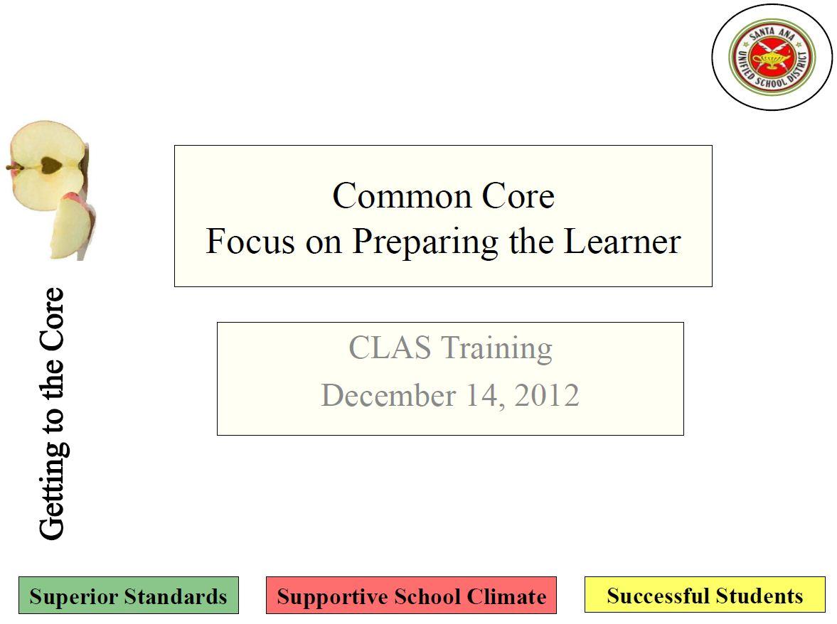 Preparing the Learner CLAS Meeting