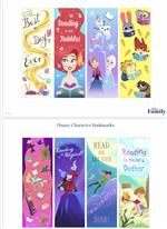 Disney Character Bookmarkers
