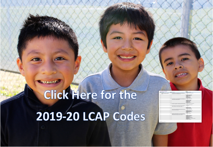 Click Here for the 2019-20 LCAP Codes