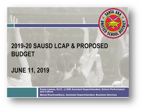 2019-20 SAUSD LCAP & Proposed Budget - June 11, 2019