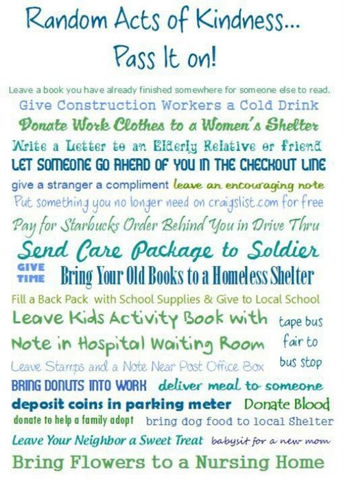 kindness essay ideas