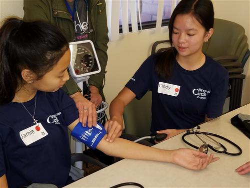 learning to take blood pressure readings