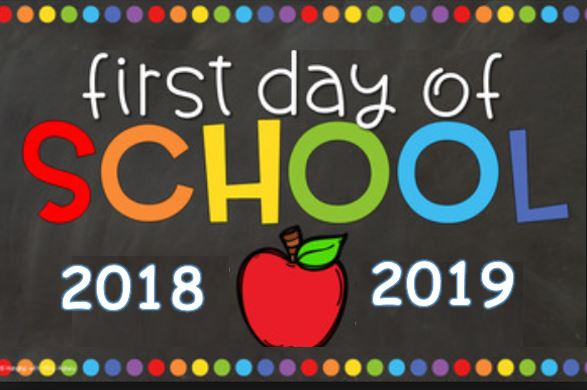 First Day of School 2018-2019