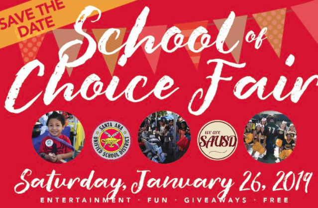 SAUSD School Of Choice Fair, Saturday, Jan. 26, 2019