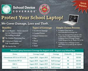 Protect your school Chromebook with insurance