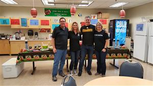 Super Bowl Party with Mr. Fleming, Ms. Derleth, Mr. Mares, Mrs. Cervantes