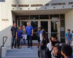 Bowers Museum with Mr. Fleming, Mrs. Chandler & Mr. Mares