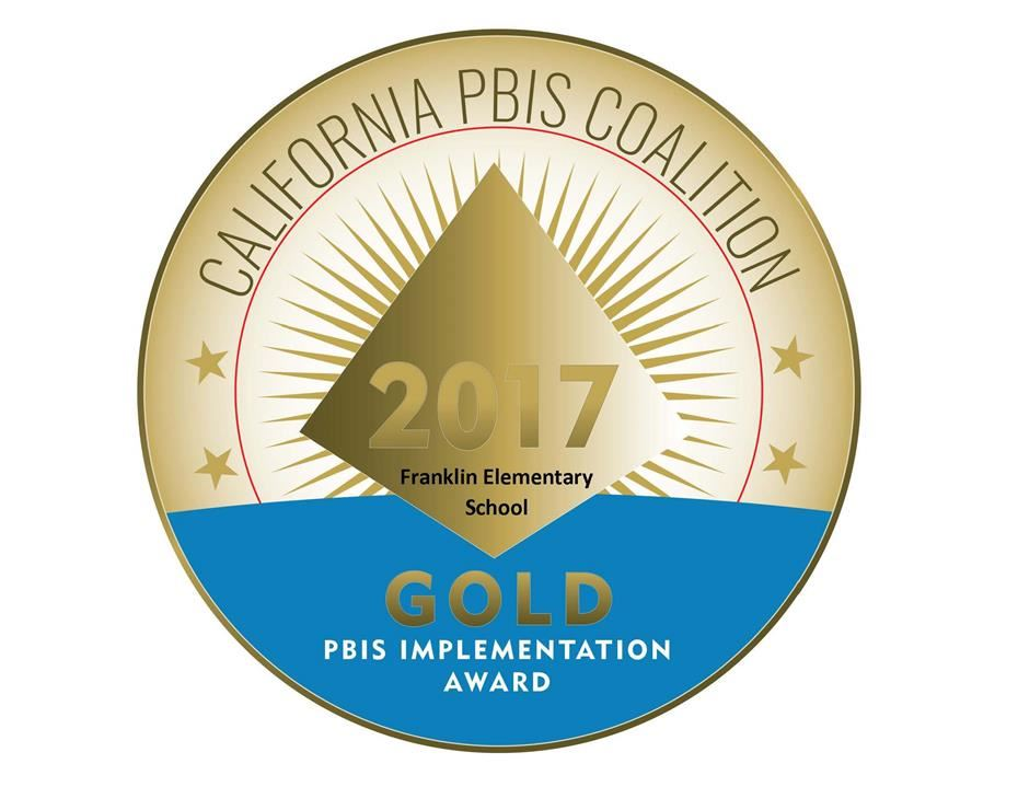 Franklin Elementary is recognized by the PBIS State Coalition with the Gold Award