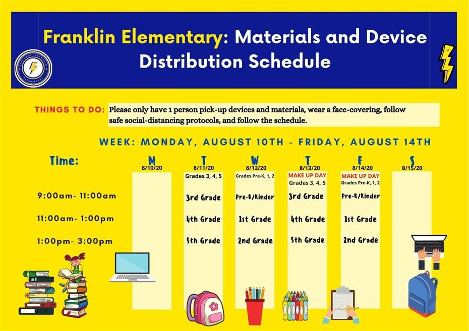Franklin Material and Device Distribution Day!