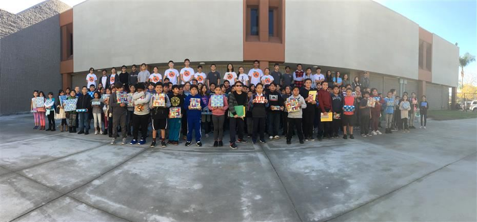 Saturday Math Club Receives Gifts by Orange County Math Circles and SAUSD High School Students