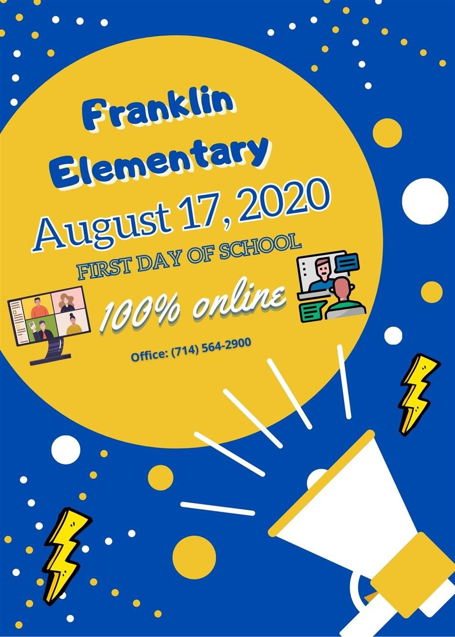 Franklin Elementary: First Day of School!