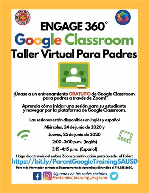 Parent Virtual Workshop - Google Classroom