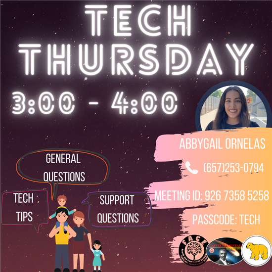 TECH THURSDAY/JUEVES DE TECHNOLOGIA