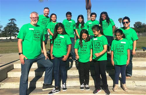 Garfield's Math Teams Compete at SAUSD Math Field Day-5th Grade Team places #2 in Geometry.