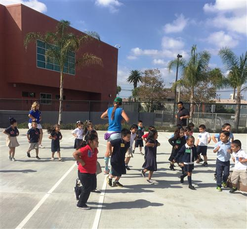 Playworks Play Day With Coach Cole United Health Care Volunteer Play Day And Kinder Garden