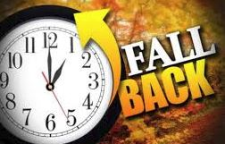 Daylight Savings Time, Sunday, November 3rd, 2019