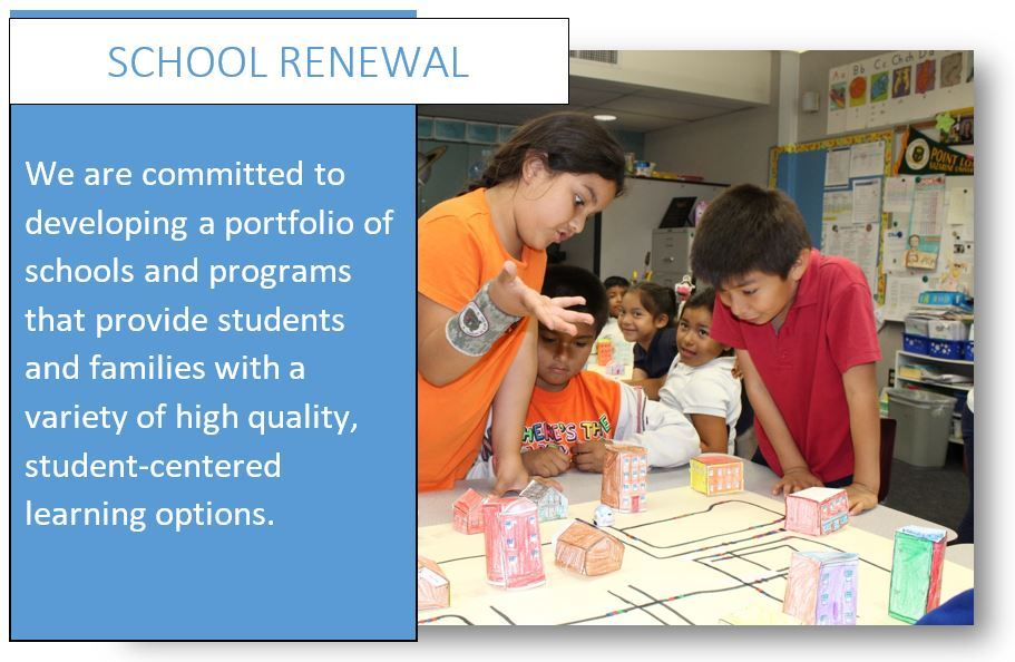 We are committed to developing a portfolio of schools and programs that provide students and families with a variety of high