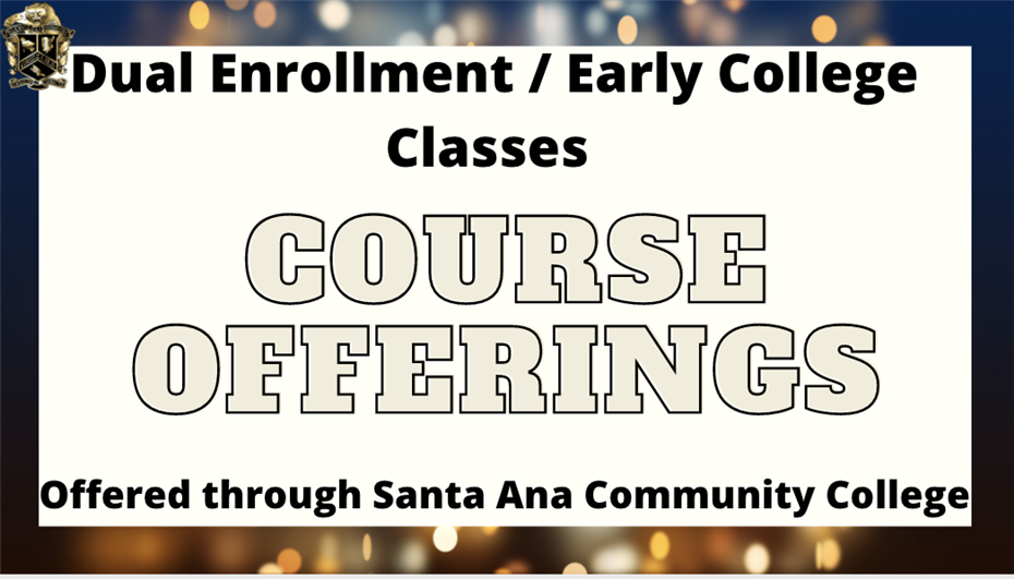 Course Offerings for Dual Enrollment