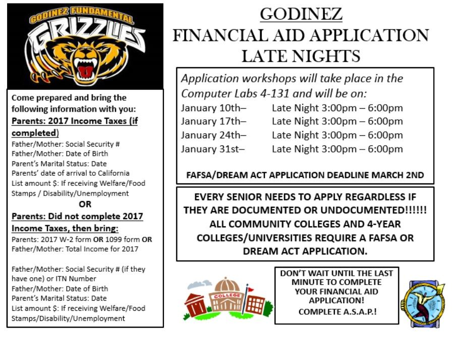 Godinez Financial Aid Application Late Nights