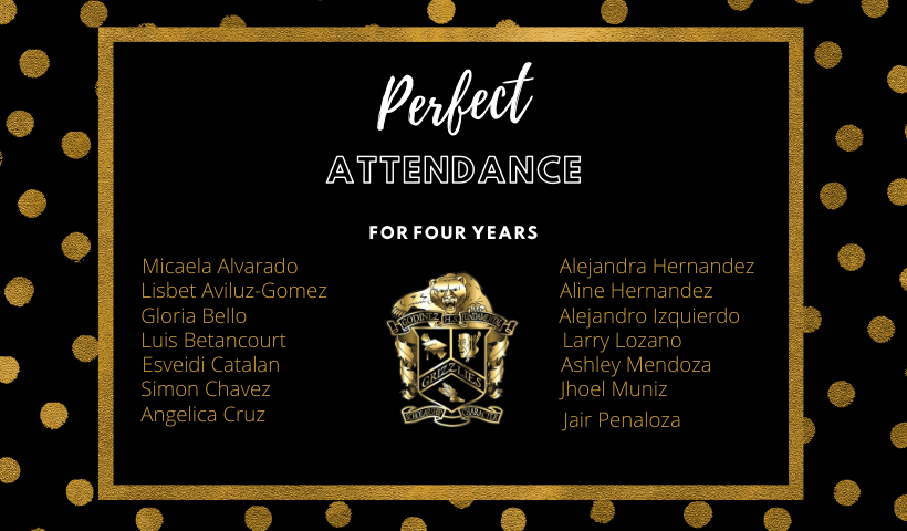 Four Years of Perfect Attendance