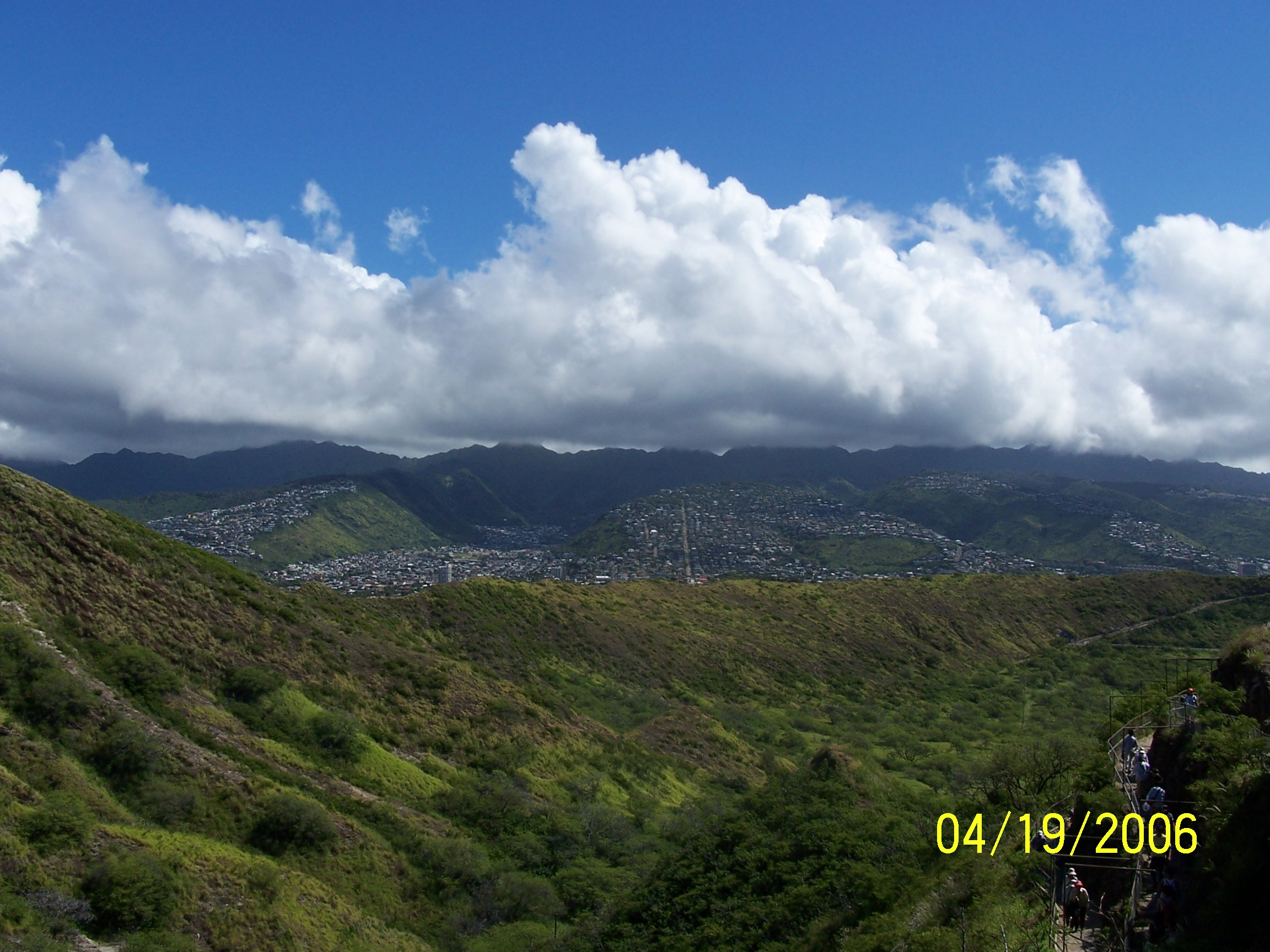 Diamond Head caldera on Oahu, Hawaii
