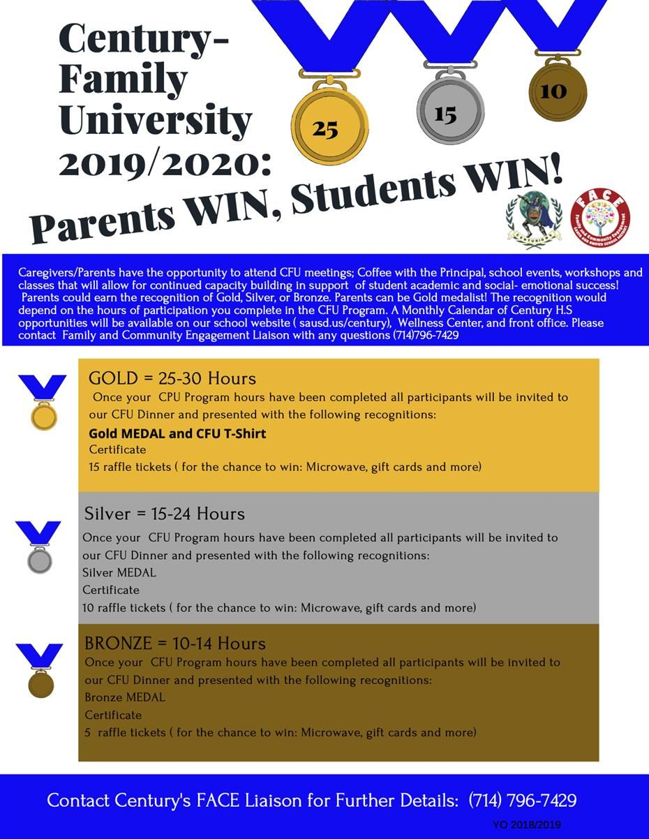 Century Family University Flyer call for details 714.796.7429