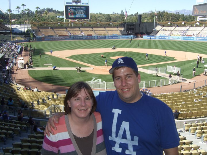 Andy and Jennifer at Dodger Stadium