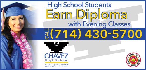 High School Students - Earn Diploma with Evening Classes at Chavez High School