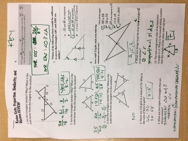 Quinanola Mark Honors Geometry Homework and Handouts – Proving Triangles Similar Worksheet
