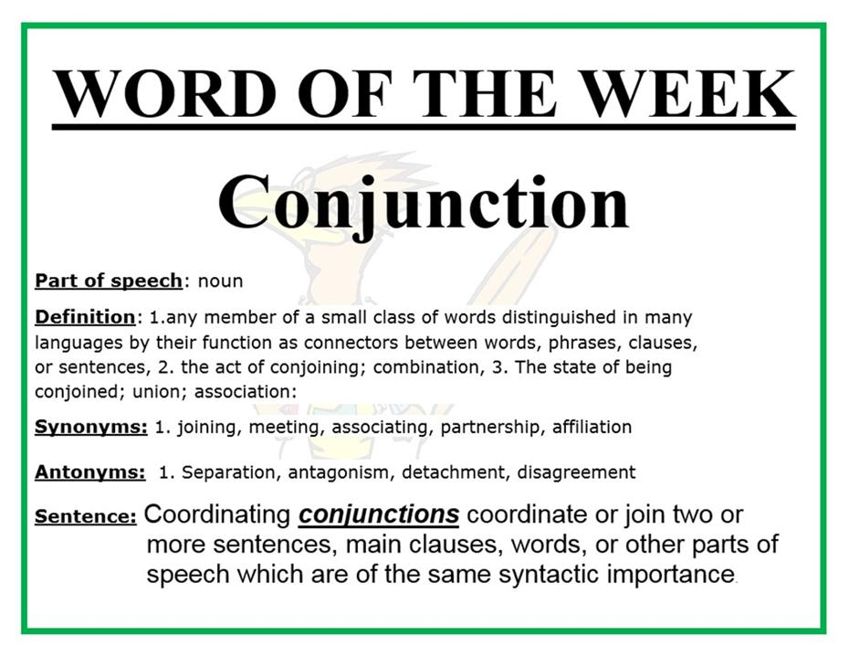 Word of the Week - Conjunction