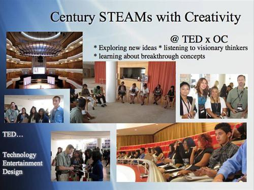 Students at the TED conference