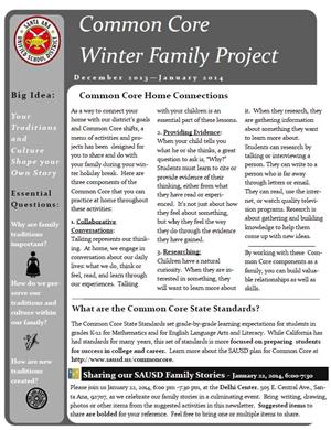English Winter Family Project Newsletter
