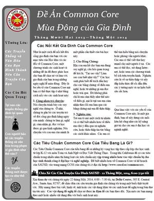 Vietnamese Winter Family Project Newsletter