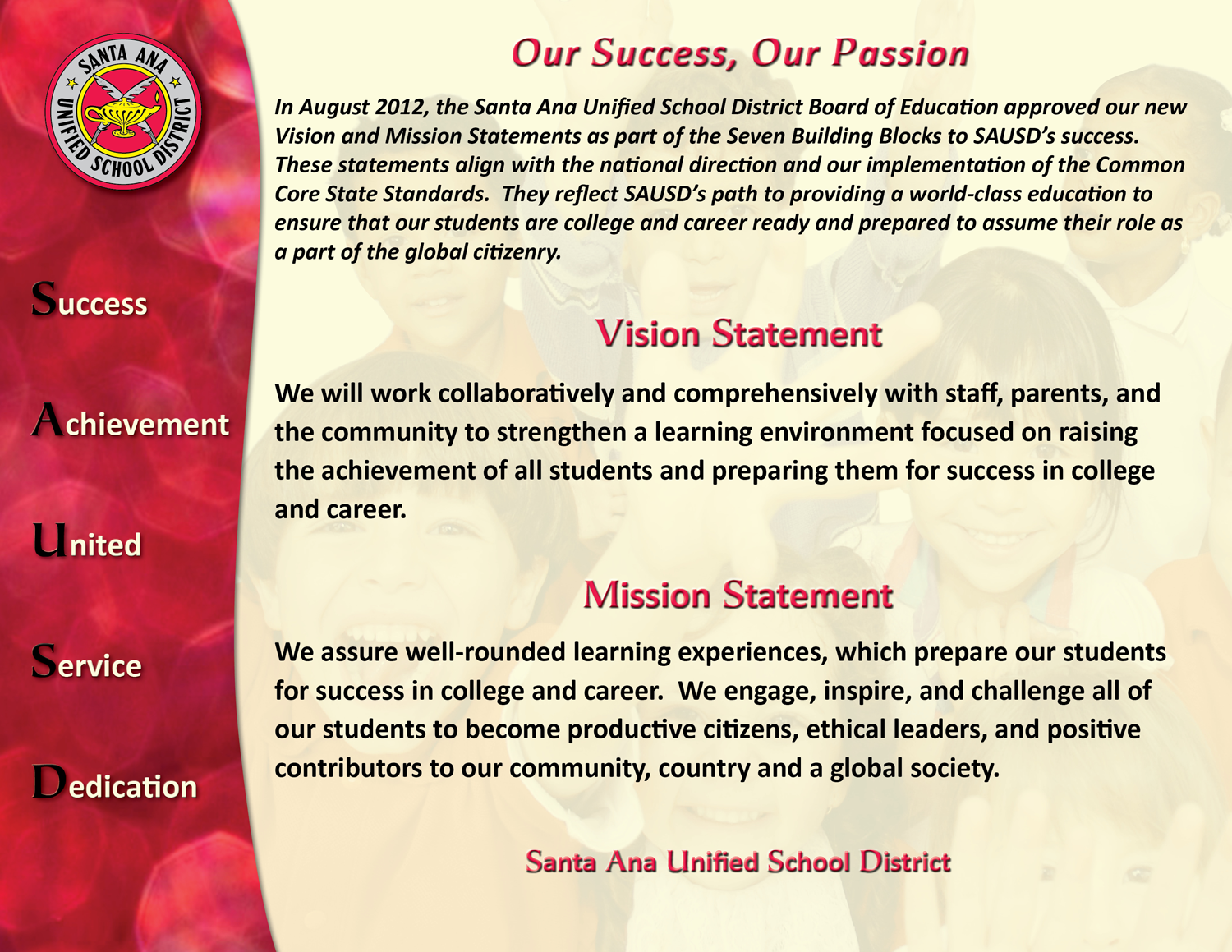 Wedding planner wedding planner vision statements for Vision statement template free